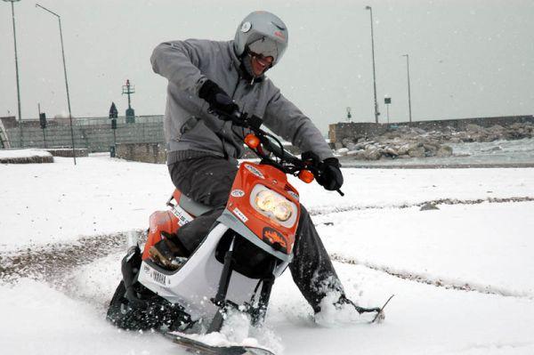 skuter zima